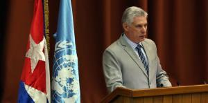 El presidente de Cuba recibe una cálida bienvenida a Twitter de sus homólogos