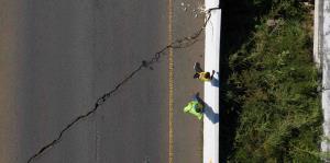 Los daños que provocó la réplica de magnitud 5.9 del sábado