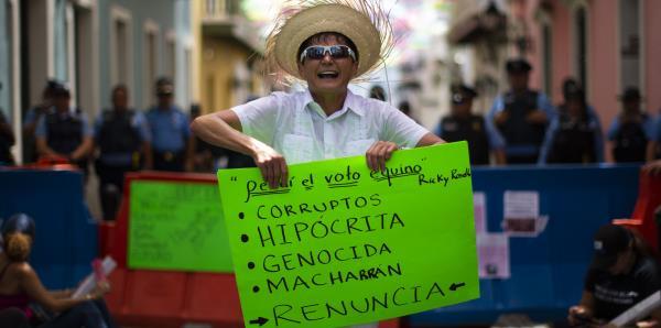 Miles protestan para exigirle la renuncia a Rosselló