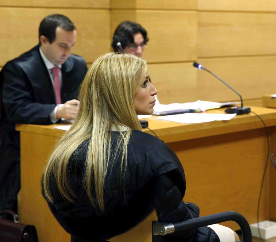 Áurea Vázquez Rijos en un tribunal de Madrid, España, país del cual fue extraditada a Puerto Rico. (GFR Media) (semisquare-x3)