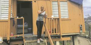 El desafío diario tras el huracán