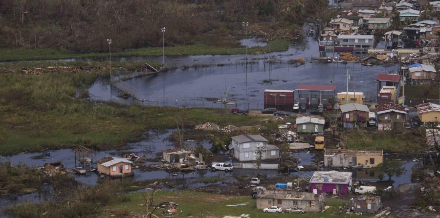 Imagen del momento en que el ojo del huracán María azotó a Puerto Rico el miércoles, 20 de septiembre. (horizontal-x3)
