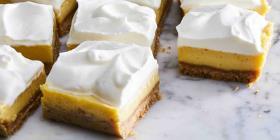 Cómo hacer barras de tarta de limón
