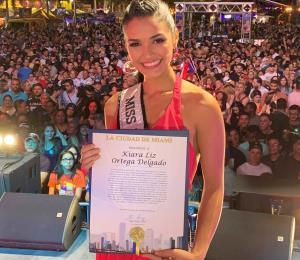 Reconocen a Kiara Liz Ortega en Miami