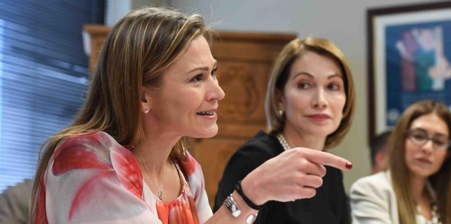 La secretaria de Educación, Julia Keleher, durante la vista que realizó la Comisión de Derechos Civiles.  (GFR Media) (horizontal-x3)