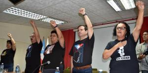 Brigadistas europeos y boricuas discuten el caso de Puerto Rico