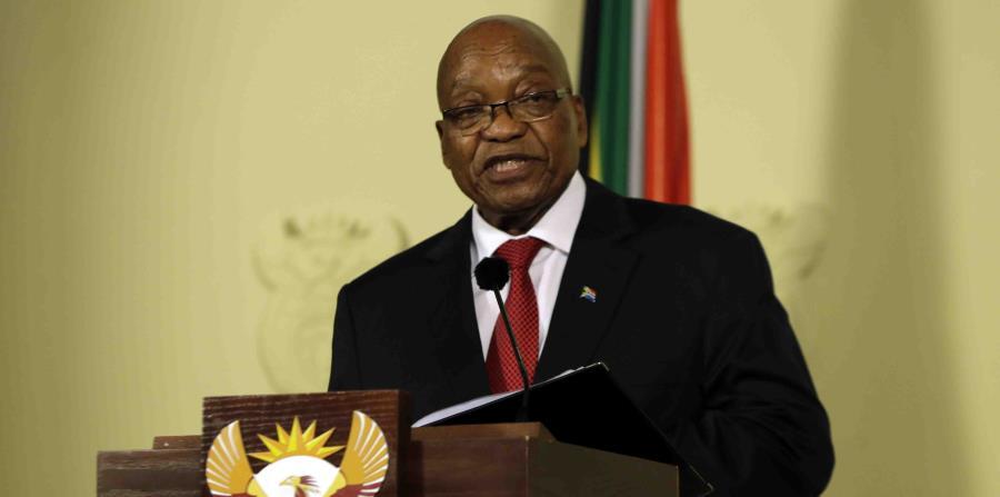Jacob Zuma durante su mensaje a la nación sudafricana. (AP) (horizontal-x3)