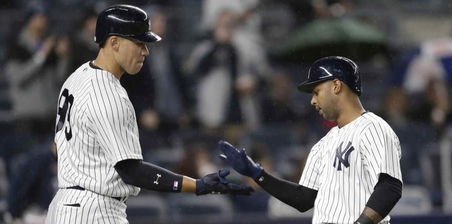 Los cuatro jonrones de los Yankees son su cifra más alta de la campaña. (horizontal-x3)