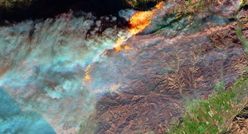 La NASA reveló imágenes satelitales de los incendios en California