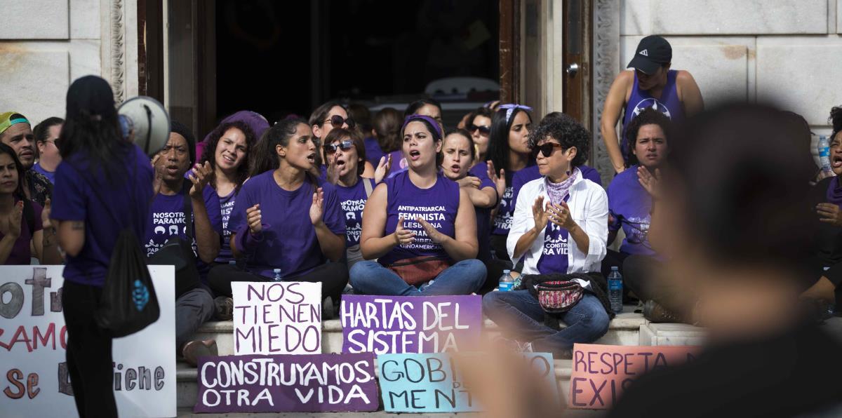 Image result for marcha feminista 2018 puerto rico viejo san juan