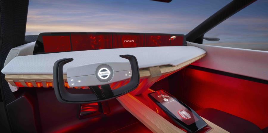A lo largo del exterior y el interior de Nissan Xmotion, los diseñadores recurrieron a técnicas de construcción, artesanía y materiales tradicionales, pero los aplicaron con una estética de diseño moderno. (horizontal-x3)