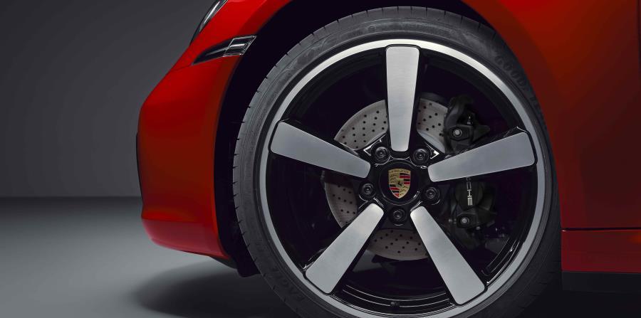 Detalle de los aros del Porsche 911 Targa. (Suministrada)