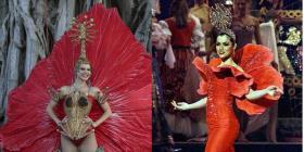 La flor de maga es el tema más utilizado en el traje típico de las boricuas en el Miss Universe