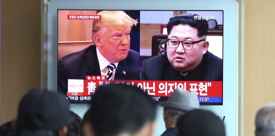 La cumbre entre el líder norcoreano Kim Jong-un y el mandatrio estadounidense Donald Trump (izq.) será el 12 de junio. (horizontal-x3)