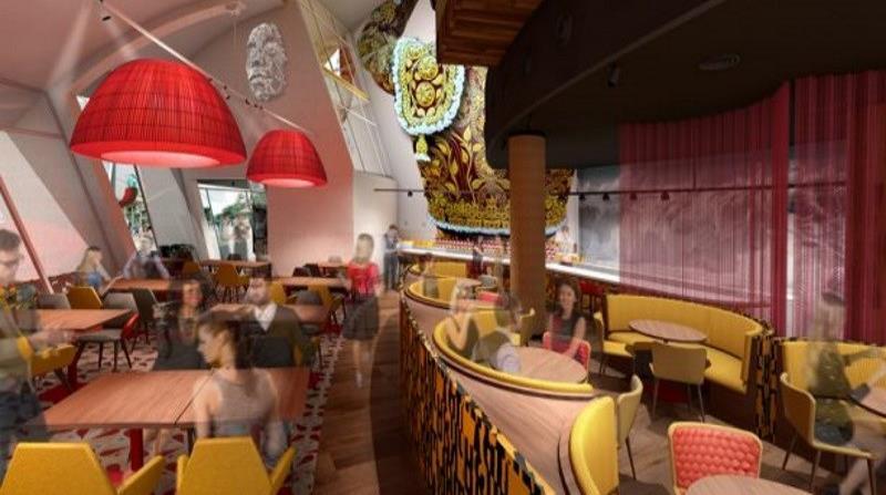 Imagen de lo que será el interior del restaurante Jaleo by José Andrés.