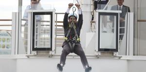 Ricardo Rosselló disfruta de la visita del crucero más grande del mundo