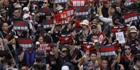 Casi dos millones de personas se manifiestan en Hong Kong contra una ley de extradiciones
