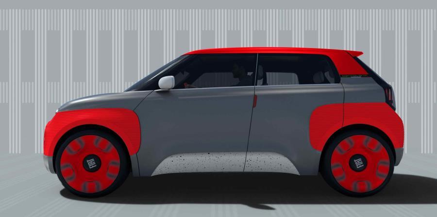 """El Fiat Centroventi, disponible en un solo color de carrocería, podrá ser personalizado mediante el programa """"4U"""". (Suministrada)"""