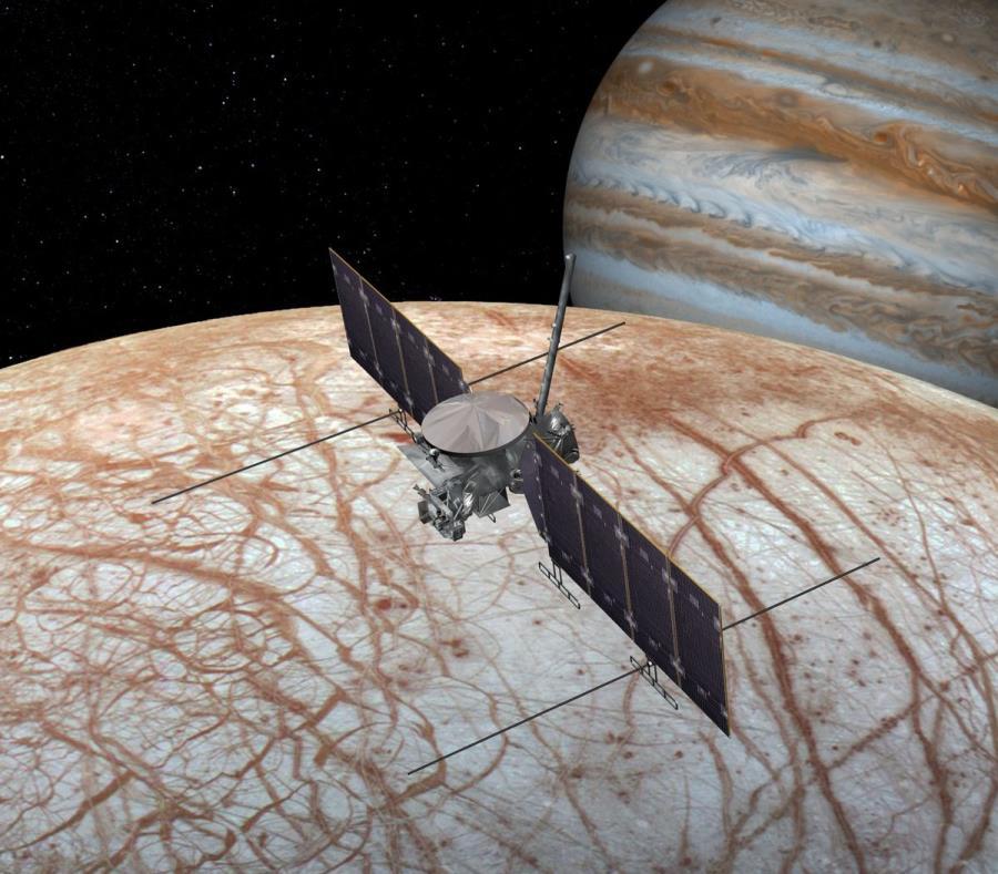 La nueva nave estudiará el océano de agua salada que se entiende existe en la luna Europa de Júpiter. (semisquare-x3)