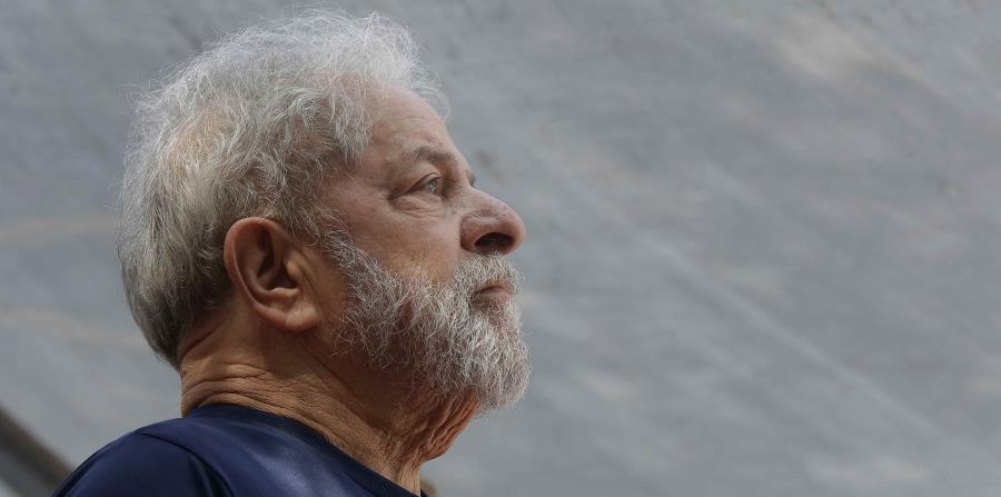 Foto tomada el 7 de abril del 2018 del ex presidente brasileño Luiz Inácio Lula da Silva en un evento en Sao Bernardo do Campo, Brasil. (AP) (horizontal-x3)