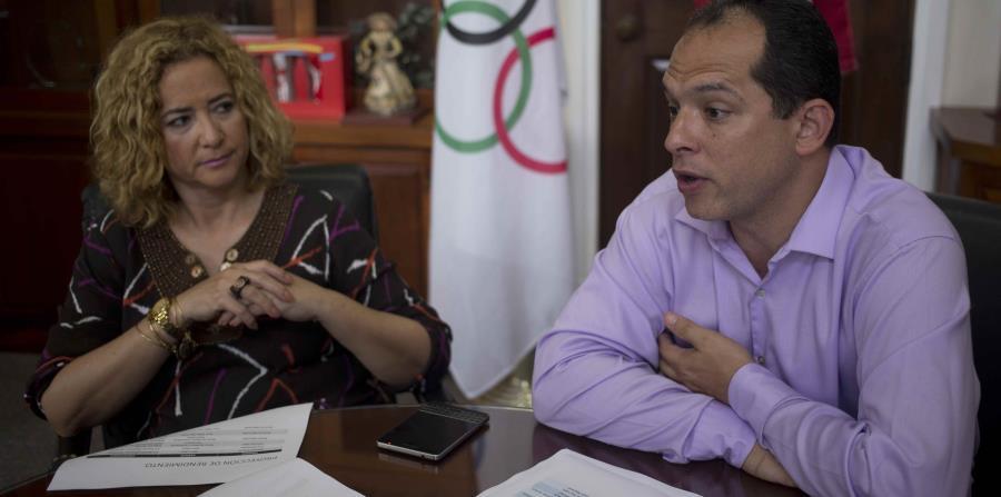 El director del Departamento de Alto Rendimiento del Copur y la presidenta del Copur, Jaime Lamboy y Sara Rosario. (horizontal-x3)
