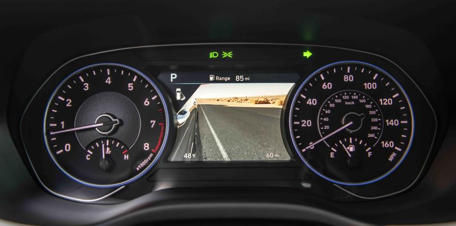 El Palisade también ofrece una exclusividad en su clase, la pantalla de visión del punto ciego  que complementa el sistema de ayuda para evitar colisión en el punto ciego.