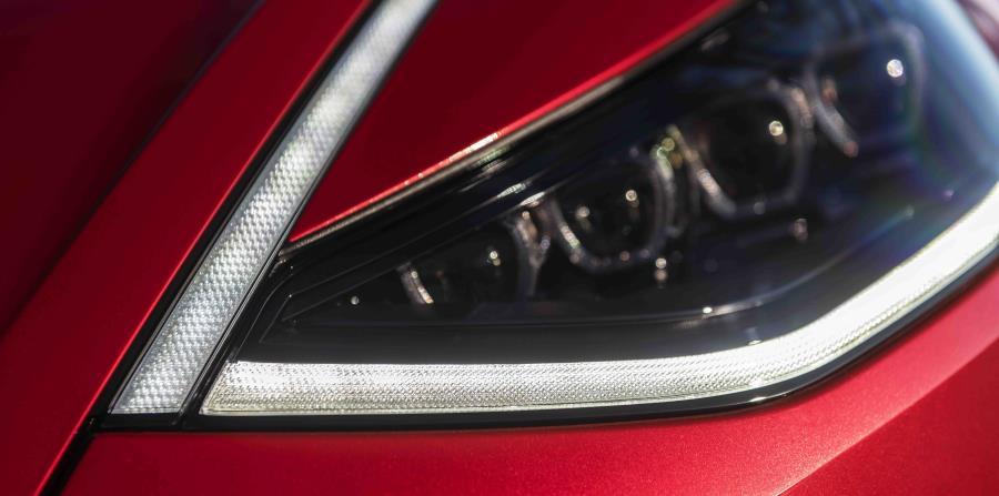 Detalle de los focos delanteros del nuevo Hyundai Sonata del 2020. (Suministrada)