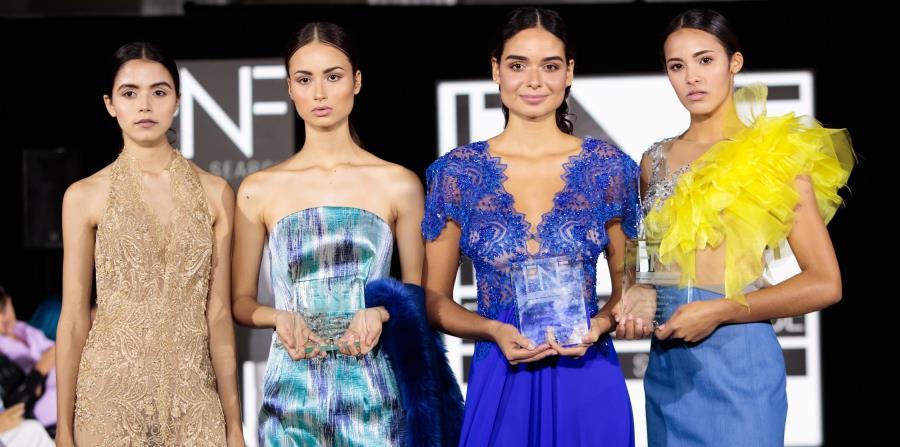 Yoliann Rivera, Andrea Colón, Elizabeth Sierra y Jennifer Collazo fueron las ganadoras del Fashion New Face Model Search. (Suministrada) (horizontal-x3)