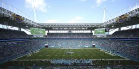 Los Dolphins de Miami transforman su estadio en autocine