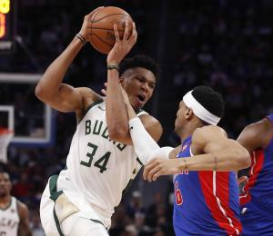 Los Bucks de Milwaukee completan la barrida de los Pistons de Detroit