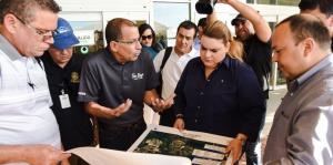 Jenniffer González visita proyectos del Cuerpo de Ingenieros