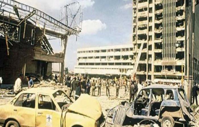 Así quedó el edificio de DAS tras la explosión que dejó más de 60 muertos y sobre 600 heridos en diciembre del 1989. (El Espectador)