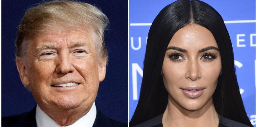 Kim Kardashian West, derecha, abogó ante Donald Trump, izquierda, por la delincuente. (AP / Fotomontaje) (horizontal-x3)