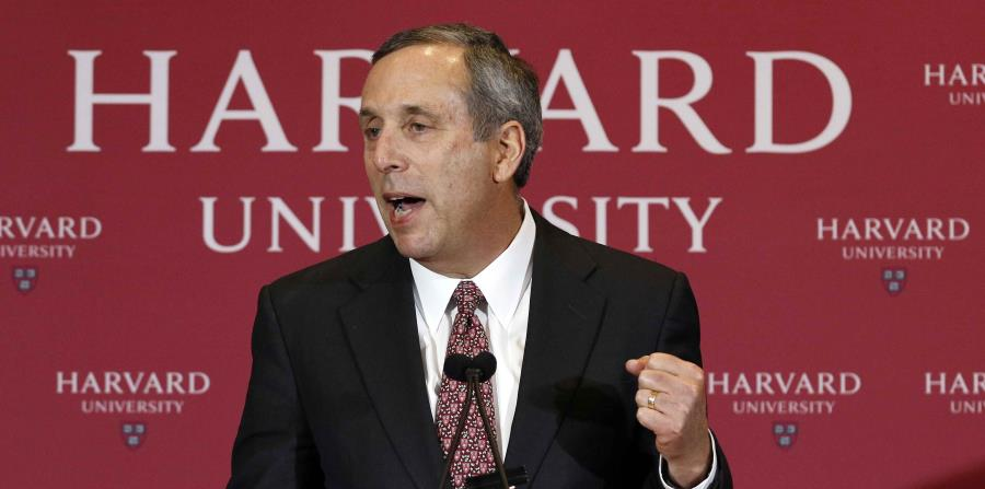 Lawrence Bacow, presidente de la Universidad de Harvard. (AP) (horizontal-x3)