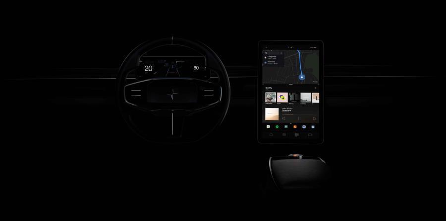 El Polestar 2 usará el sistema HMI (Human Machine Interface), que permite la interacción entre la persona y la máquina. (Suministrada)