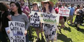 Empleados de Wayfair paran por venta a un centro de detención en Texas