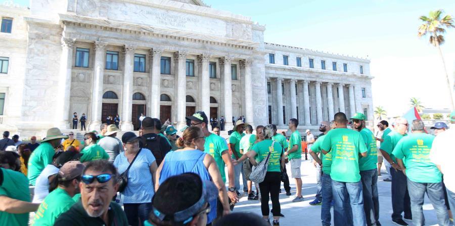 sindicatos se manifiestan en el capitolio contra el proyecto 938 (horizontal-x3)