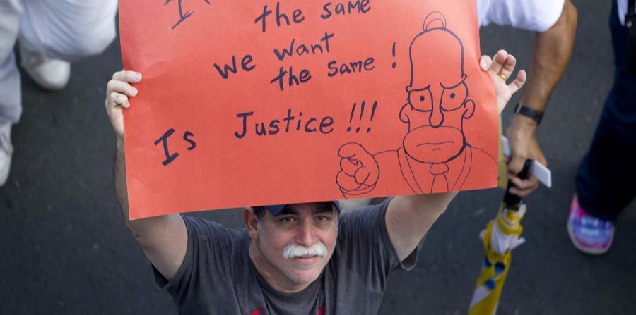 mnifestante durante la marcha