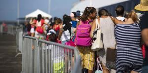 Así fue el 4 de julio en el terminal de lanchas en Ceiba