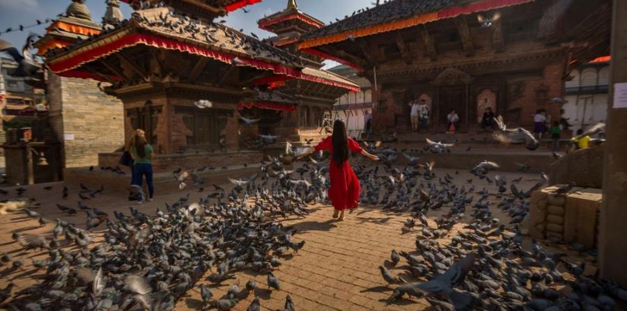 Plaza de Durbar, en Katmandú.