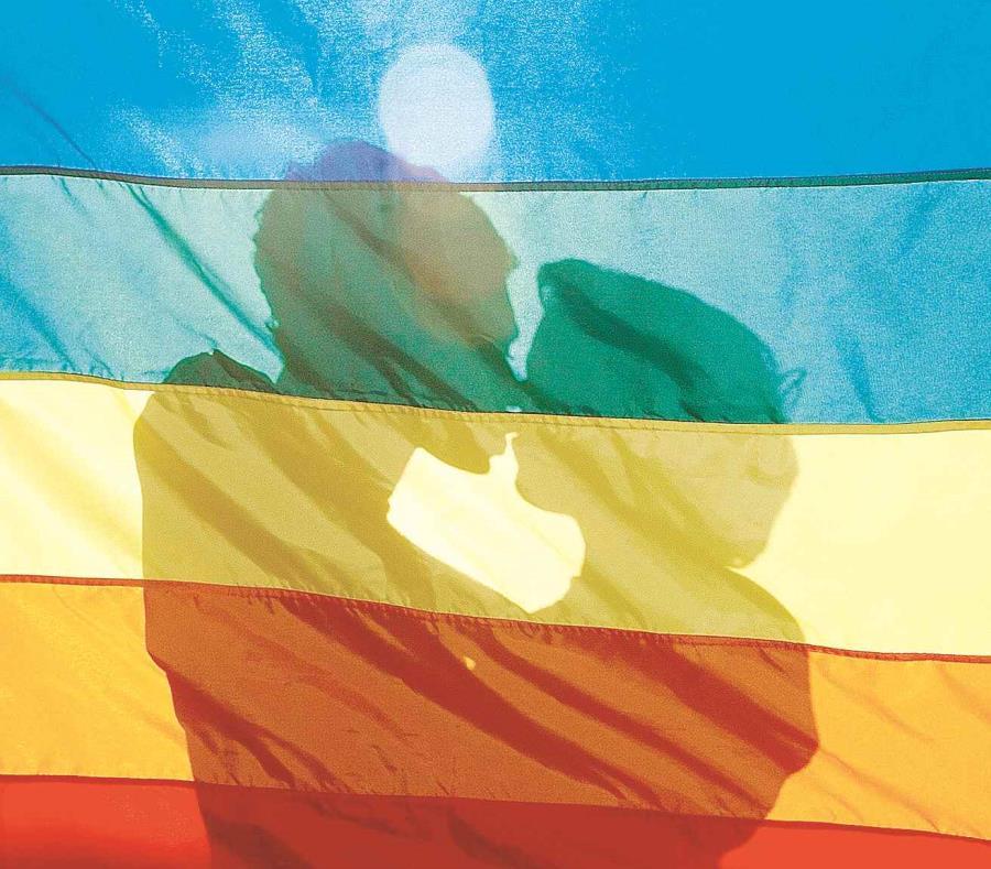 El izado de la bandera coincide con la inauguración de una exposición sobre el movimiento LGBTI. (EFE/Antonio Lacerda) (semisquare-x3)