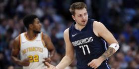 Los Mavericks trituran a los Warriors con 35 puntos de Luka Doncic