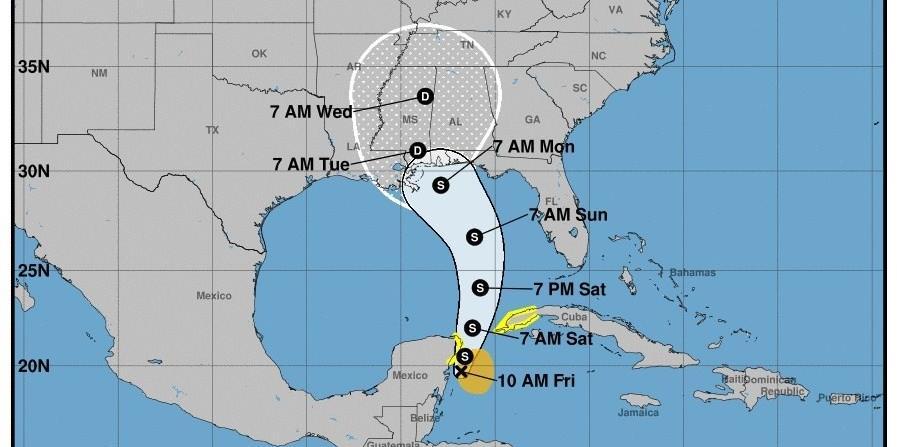 La tormenta subtropical Alberto, la primera de la temporada de huracanes en el Atlántico, se formó hoy al noroeste del Caribe y se espera que deje