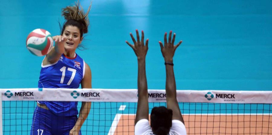 Puerto Rico no pudo ganarle a República Dominicana . En la foto, Paulina Prieto, de Puerto Rico. (GFR Media / Juan Luis Martínez) (horizontal-x3)