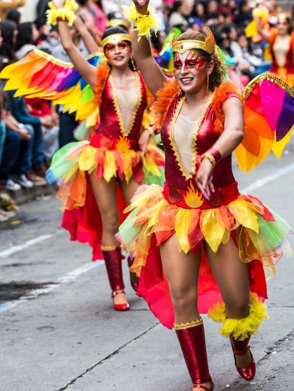 """Además del Festival de la Fruta y de las Flores, Ecuador es famoso por sus carnavales y por otra fiesta típica: """"La Diablada"""" que se celebra en Píllaro. (Shutterstock)"""