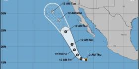 Ivo, la tormenta tropical que nació en la costa suroeste de México