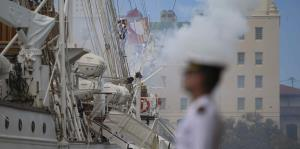 El buque-escuela de la armada española llega al Viejo San Juan