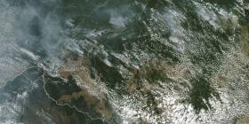 La NASA revela imágenes del incendio en la Amazonía tomadas desde un satélite