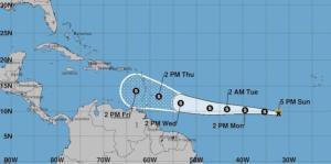 La tormenta tropical Kirk se debilita un poco más