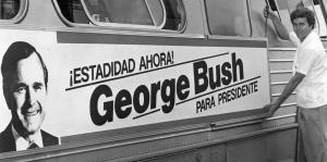 La visitas de George H. W. Bush a Puerto Rico